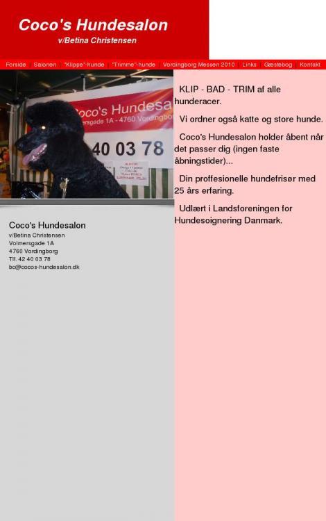 Coco 39 s hundesalon vordingborg sj lland for Salon de discussion coco